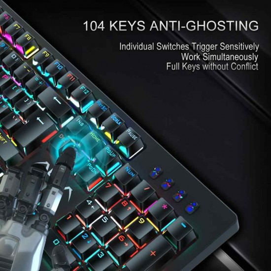 AULA S2018 Mechanical Keyboard Black Switch