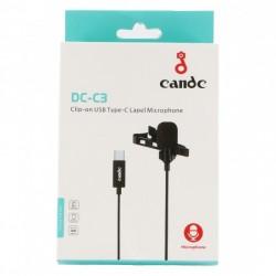 CANDC (DC-C3) TYPE C LAPEL MICROPHONE