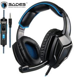 Sades Gaming Headphone – SA920 Plus Blue