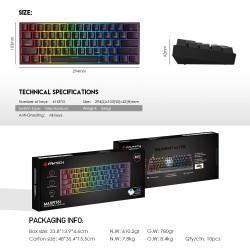 Fanteck Keyboard MAXFIT61 MK857