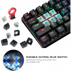 MotoSpeed CK62 RGB wired Bluetooth dual mode mechanical keyboard